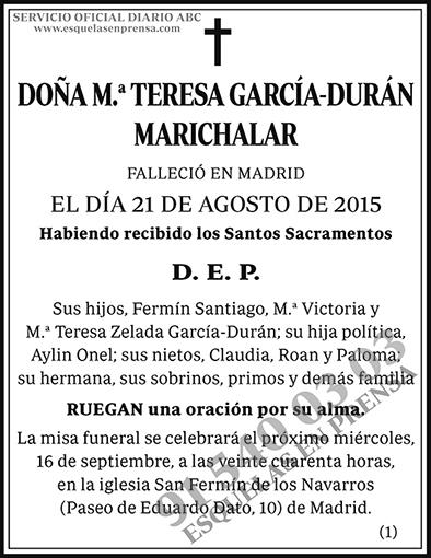 M.ª Teresa García-Durán Marichalar